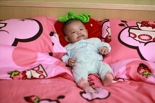 樂樂 粉紅 草莓 床單