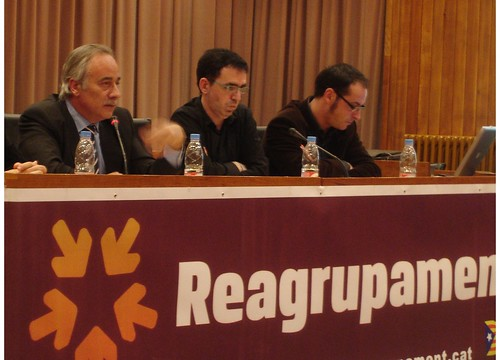 Joan Carretero, Francesc Canosa i Emili Valdero a Balaguer