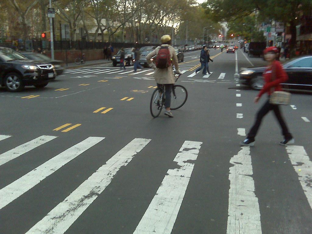 very stupid woman on a bike