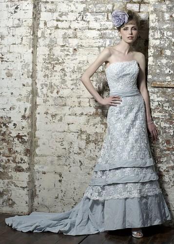 Elegant wedding dress handmade.