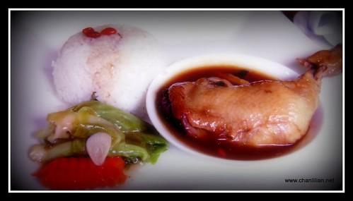 herbal drunken chicken rice