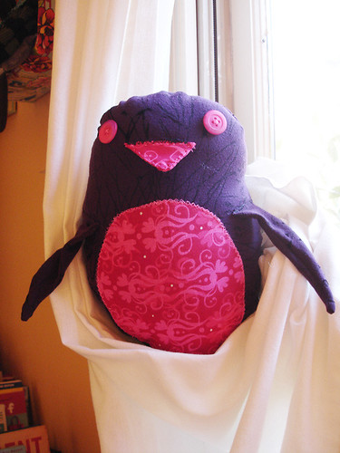 A Plush a Day Challenge: Day 10 - Perren the Purple & Pink Penguin Plush