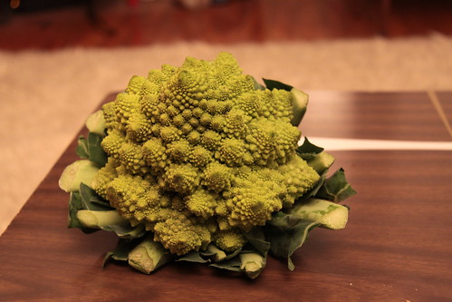 Romanesco Broccoli Cauliflower   a fractal vegetable November