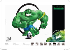 hulk (eduardowestin) Tags: verde cartoon super hero strong hulk marvel futebol forte cartum musculo heroi
