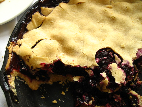 cranberry-blueberry pie (GF)