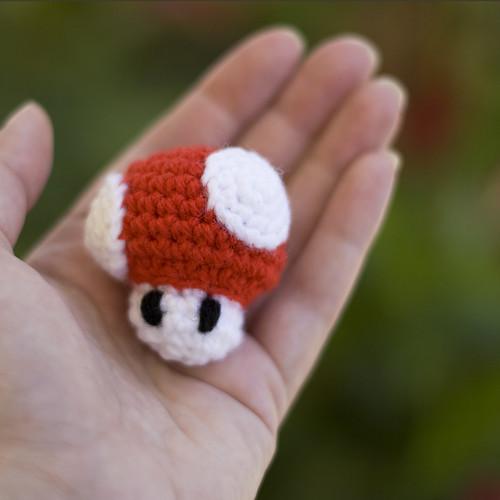 Amigurumi Mushroom Crochet Patterns : Mini Mario Mushroom Amigurumi Amys Odyssey