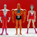 mattel justice league unlimited doom patrol figures: negative man, robotman, elasti-girl (2009 mattycollector.com exclusives)