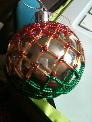 Bauble with beads