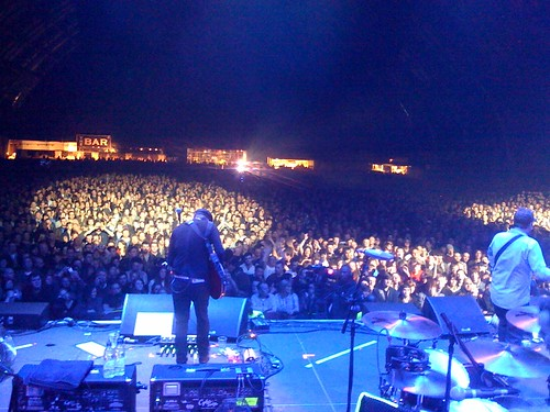 From the stage at Doves' GMEX gig on 18 December