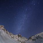 Alpen snow galaxy