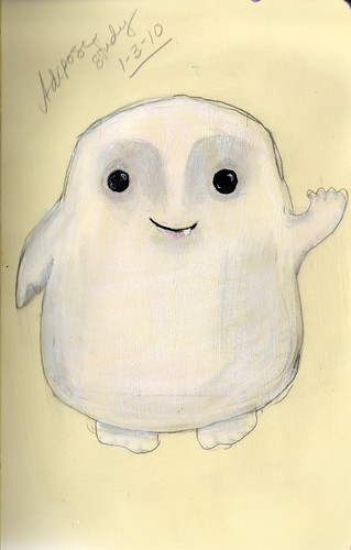 "study for ""Adipose"" painting"