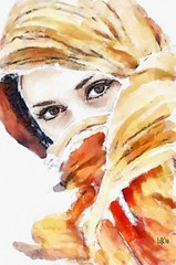 Eastern eyes (piker77) Tags: portrait woman painterly art face digital photoshop watercolor painting interesting media natural retrato aquarelle digitale manipulation simulation peinture illusion virtual watercolour transparent acuarela tablet technique wacom ritratto stylized pintura portre  imitation  aquarela aquarell emulation malerei pittura virtuale virtuel naturalmedia bildnis    piker77wc