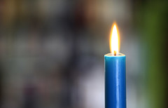 Blue candle (!.Keesssss.!) Tags: blue netherlands horizontal closeup outdoors fire photography hope shiny day candle nopeople illuminated flame simplicity heat candlelight gettyimages royaltyfree singleobject colorimage focusonforeground theflickrcollection keessmans 216ksgetty