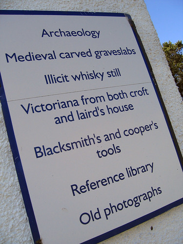 Museum of Islay life sign