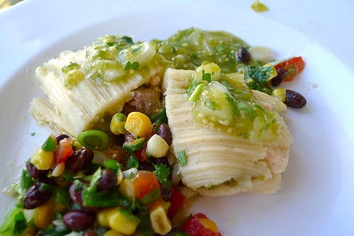 Chicken tomatillo tamales
