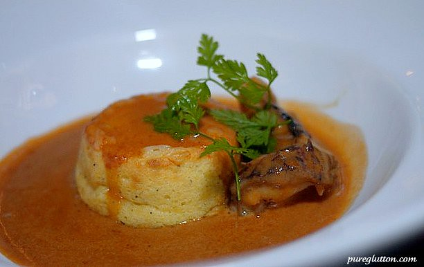 souffle prawn lobster bisque