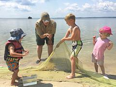 Kids summer programs at Belle Isle State Park Charlie (vastateparksstaff) Tags: programming fishing netting nets kids charlie summer river interpretive learning