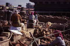 (toeytoeytoeytoeytoey) Tags: travel asia nepal culture hindu kathmandu bhaktapur patan valley winter nepali people rebuiding