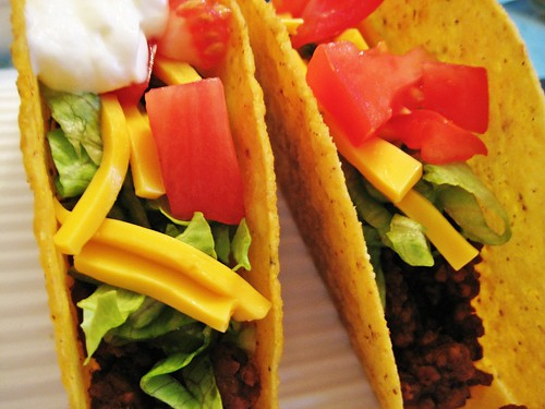 Hard Taco (with and without sour cream)