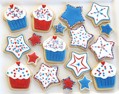 4th of July Cookies (Glorious Treats) Tags: blue red usa white cookies star cookie july patriotic cupcake 4thofjuly fourth independenceday celebrate