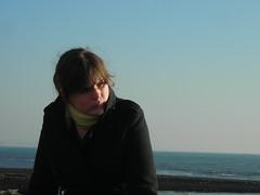 Blaaagggh (Phantom_snapper) Tags: ocean uk sea vacation england holiday cold english beach seaside horizon lizzie lyme regis