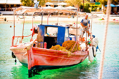 Pelion, Katigiorgis (beekoz) Tags: vacation green boat fisherman waters 2009 skiathos pelion katigiorgis skia8os