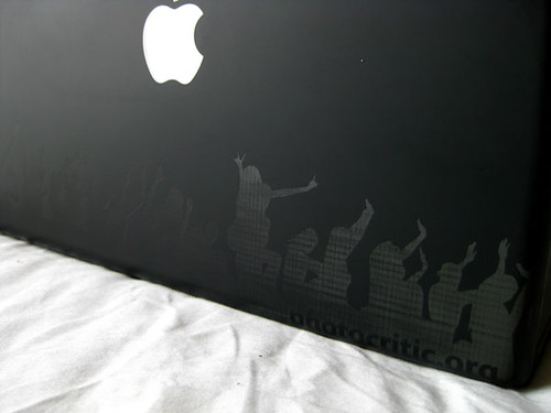 BlackBook Laser Engraving 5: Back of the Laptop