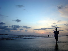 Evening Run (Kazi Ashraful Alam) Tags: blue boy sunset sea sky cloud sun color colour nature beauty clouds evening lowlight afternoon run before best shore lonely bangladesh bazar coxs coxsbazar coxsbazarsky