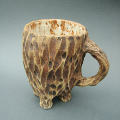 A Mug a Hobbit Would Die For (LoriPhillipsCeramics) Tags: brown tree cup nature coffee woodland carved clay mug pottery organic etsy teacup stoneware handbuilt ceramicsandpottery etsyowlsteam teambluegrass