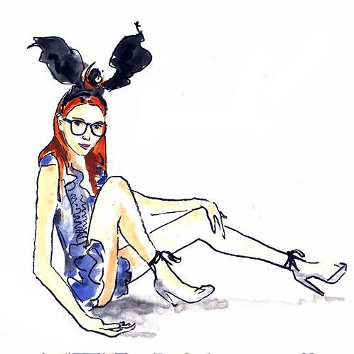 Julia Frakes in Louis Vuitton F/W '09