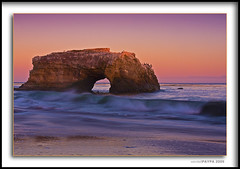 Natural Bridge, Santa Cruz, CA (du9drw) Tags: ocean california sunset santacruz beach nature water rock fun mac sand waves natural bridges naturalbridge cs4 statebeach photomatix garbongbisaya du9drw