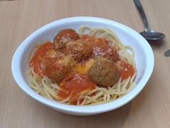 Spaghetti with meatballs, at Amore Dogs, Edinburgh