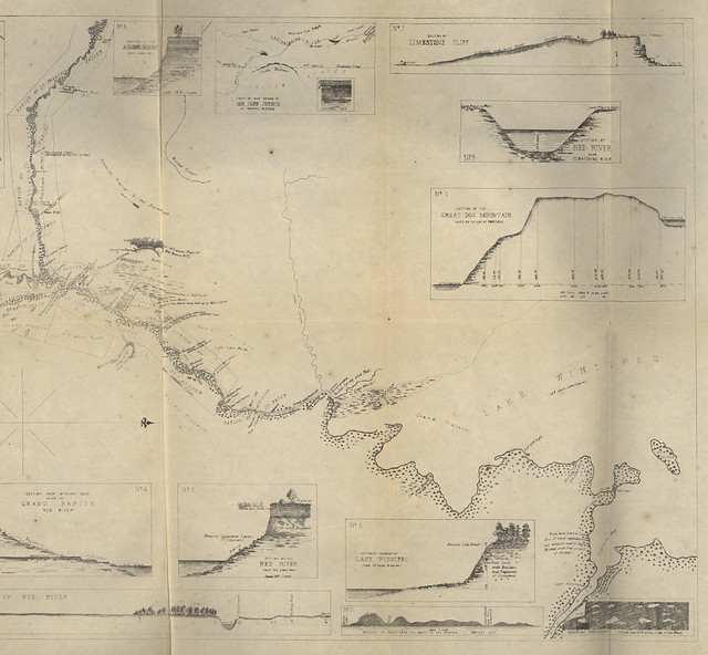 Map of part of the Valley of Red River North of the 49th Parallel to accompany a report on the Canadian Red River Exploring Expedition by HY Hind [North Sheet] (1858) by Manitoba Historical Maps