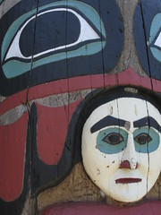 Totem pole detail, Ketchikan, Revillagigedo Island