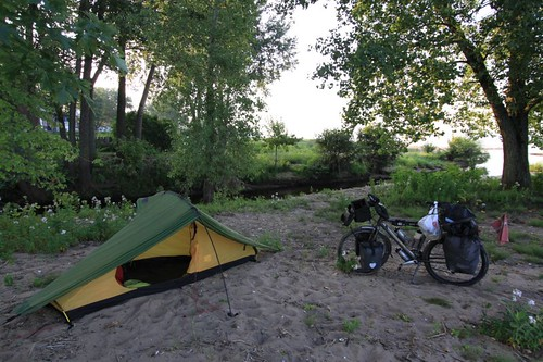 Morning camp near Trois-Riviere, Quebec.
