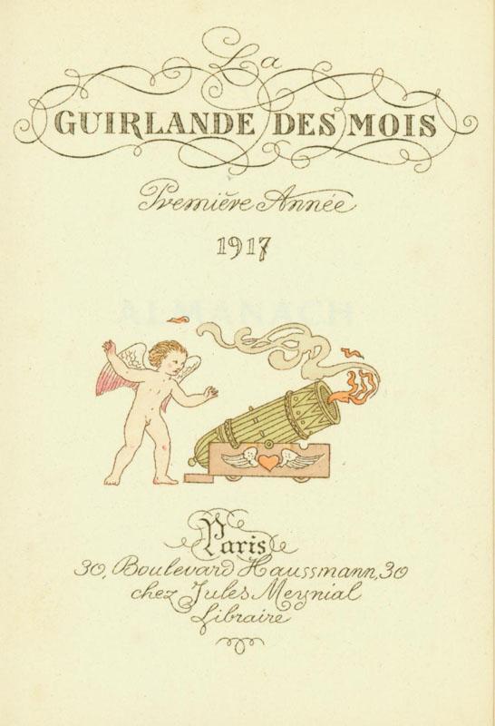 La Guirlande des Mois, 1917, title page.