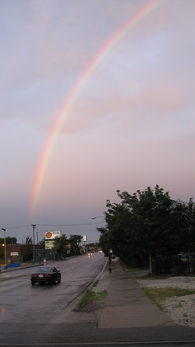 A large rainbow on South Archer Avenue. Chicago Illinois. August 2009.