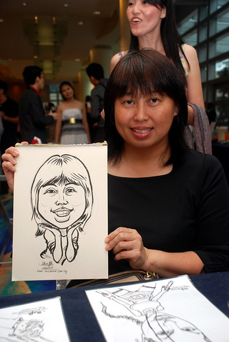 Caricature live sketching for SMC Teachers'Day D&D 2009 - 3