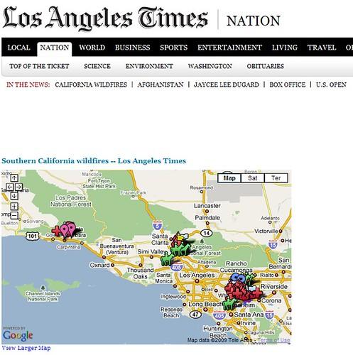 LA Times Fire Map