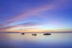 still life! (muha...) Tags: sea summer sky travelling beautiful sunrise island hope nikon colours transport peach happiness nobody calm maldives longexposer hopefull muha muhaphotos asiangeo