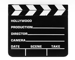 Stock Image - Hollywood Production Clap Board