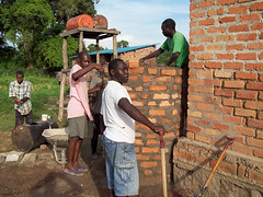 Constructing a water collection system (Lutheran Heritage Foundation) Tags: sudan seminary elcs yambio lhf lutheranheritagefoundation