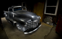 1948 Chevy Pickup (Perry C.) Tags: auto lighting black 1948 chevrolet up photoshop truck project nikon flat garage flash wheels sb600 pickup automotive chevy pick cls 1735mm layered lightstand strobist d700