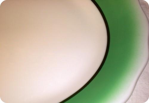 vintage green platter