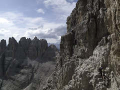 On the via ferrata Monte Paterno (Paternkofel klettersteig) - Sexten Dolomiten