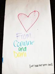 corinne & dani's card