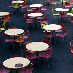 Tables and chairs (treehouse1977) Tags: project restaurant cornwall chairs round tables eden