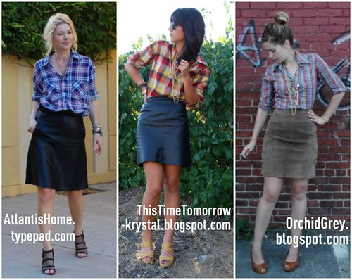 Inspirations: Leather skirts and plaid