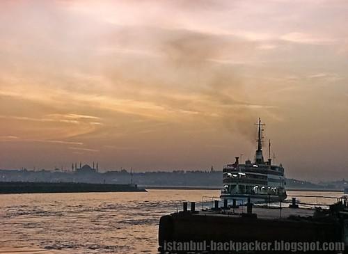 Bosphorus Ferry Leaving the Pier