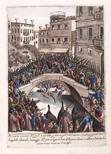 024-Fiesta de la batalla popular para ocupar los puentes de Venecia-Habiti d'hvomeni et donne venetiane 1609